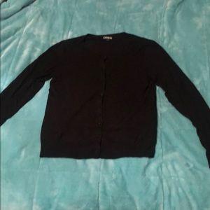Express Black Cardigan Sweater